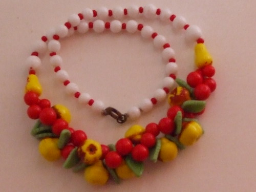 Fruit necklace-1950's