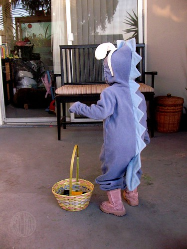 Easter-Dino's waggy tail