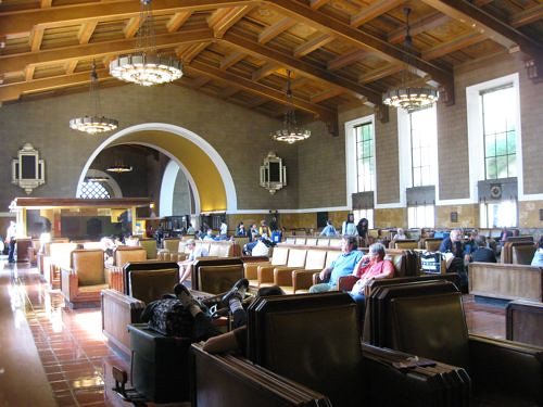 The aforementioned Union Station, a splendid example of LAs baroque Deco-meets-Southwest traditions.