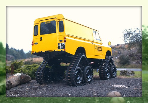 Strange Yellow Land Rover, Scotland