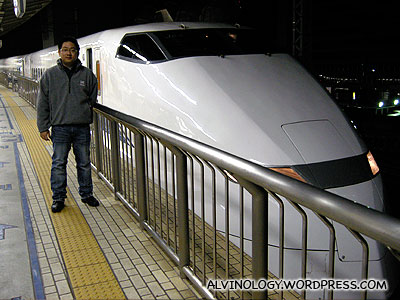 The bullet train which took us to Osaka