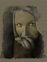 Je te mens _ I'm lying (vinciane.c) Tags: art love women digitalpainting graphite wacomcintiq