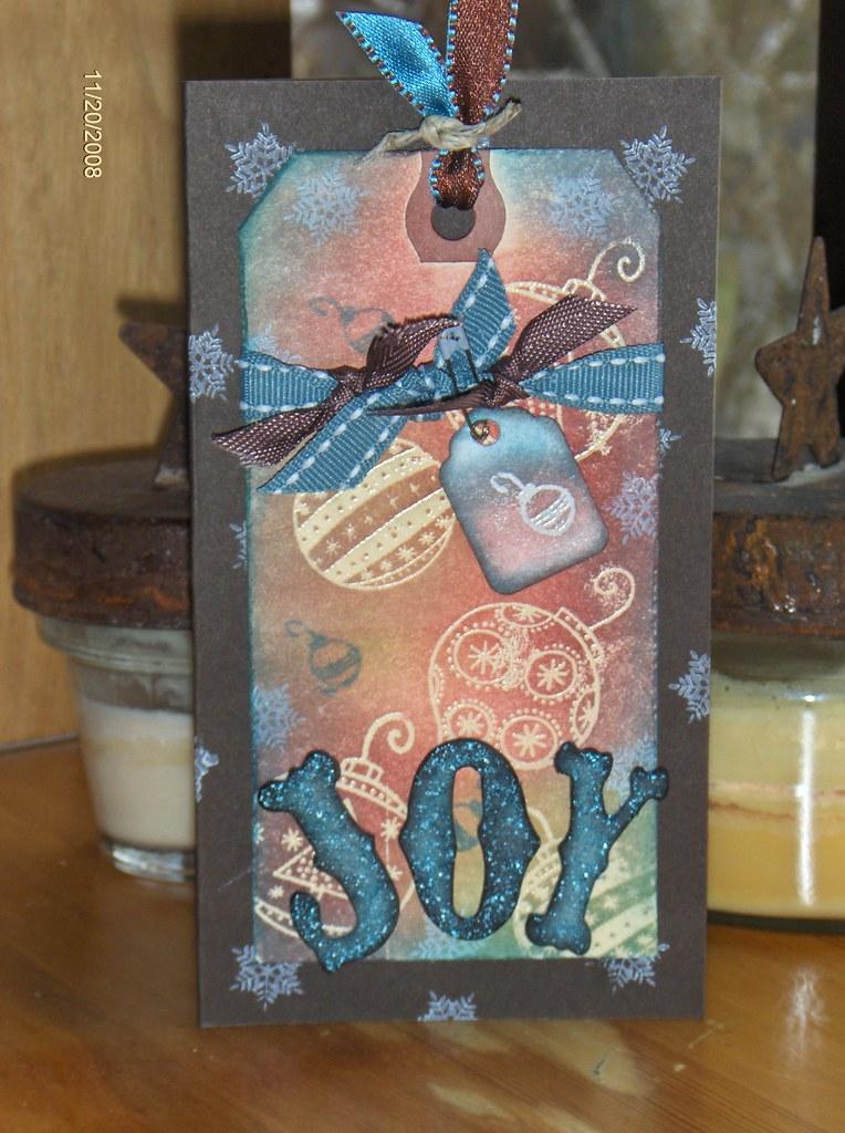 Distress - Joy Card with Tag