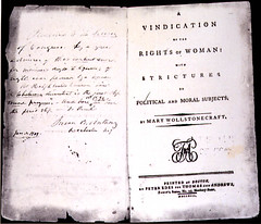 Mary Wollstonecraft's A Vindication of the Rights of Woman (1792)