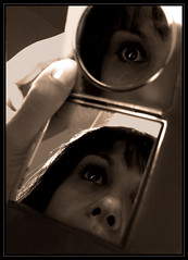 118/365 (anna.creedon) Tags: portrait selfportrait reflection face sepia self mirror eyes hand tuesday spt day118 project365 project3661 project365280409 project36528apr09