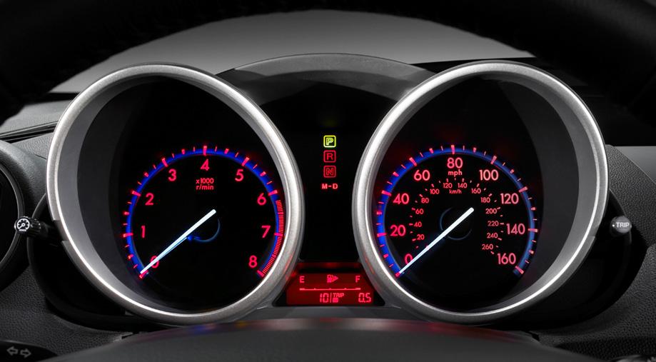 Electroluminescent gauges Mazda3