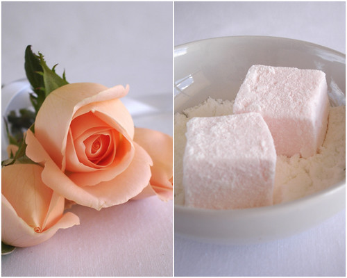 Rosewater marshmallows / Marshmallows de água de rosas