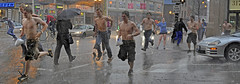 rainy (archer773) Tags: street shirtless people chicago wet pecs rain umbrella naked nude illinois nipples chest il archer archer773