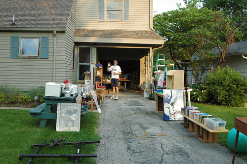 Start of the garage sale day