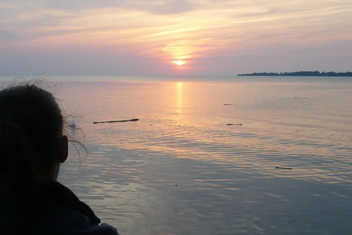 Julie and the Sunset from Middle Bass Island