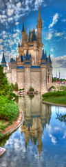 WDW April 2009 - Cinderella's Castle (PeterPanFan) Tags: travel vacation usa reflection castle water spring orlando florida disney disneyworld april fl wdw waltdisneyworld 2009 magickingdom cinderellascastle disneypictures vacationpictures disneyphotos wdwmagic