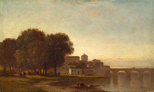 Near Cordova, Spain. Samuel Colman, ca. 1860-1870.
