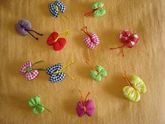 Borboletinha (Minhas Crias) Tags: artesanato fuxico tecido retalho trabalhosmanuais borboletadefuxico borboletafuxico fuxicoborboleta