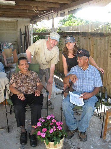 Miss Barbara, Mr. Kenneth, Brian and Rebecca.  Gentilly neighborhood, May 2009