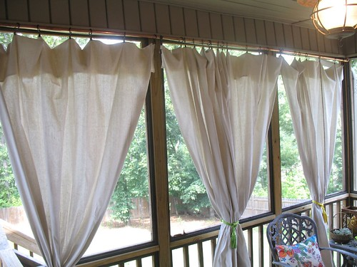 Drop Cloth Curtain Tutorial For The Screened In Patio
