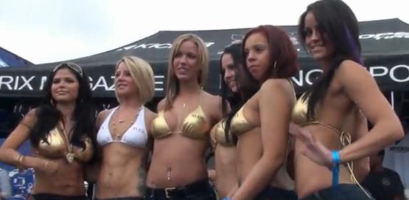Hot RIX Magazine Models At 2009 Formula D Wall Speedway (HD)