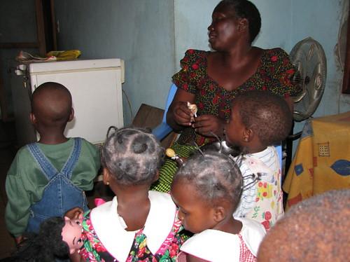 Girls at Moukondo Orphanage