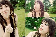 Dandelion Afternoon (Photos by Kim T.) (Em Ogden) Tags: portrait love me whimsy dandelion kimt
