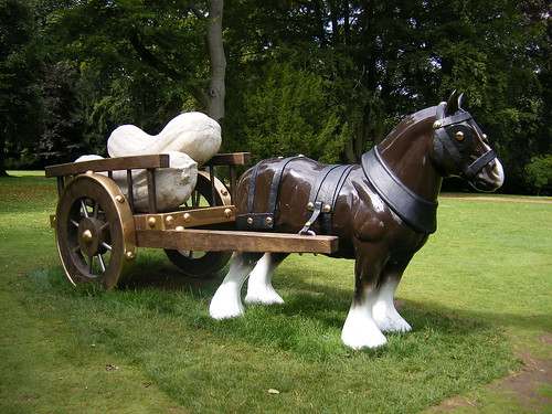 Waddesdon Manor - horse and cart - Perceval by Sarah Lucas