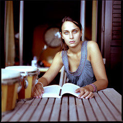 09/05 (po-pad) Tags: summer portrait woman 120 6x6 girl zeiss eyes estate kodak hasselblad medium format portra 0905 80mm 503cx