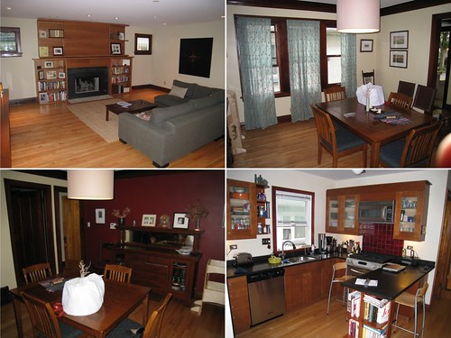 Collage of Before Photos from Southeast Oak Park Home