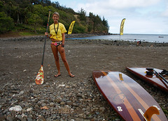 Suzie Cooney (simone reddingius) Tags: woman sports sport race hawaii athletic maui watersports athlete fitness sup downwind wahine kanaha oc1 malikogulch olukai photobysimone