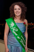Nicole Gourley representing the Invercargill Irish Society.  Photo courtesy: Ashley Mckenzie, Southland Times