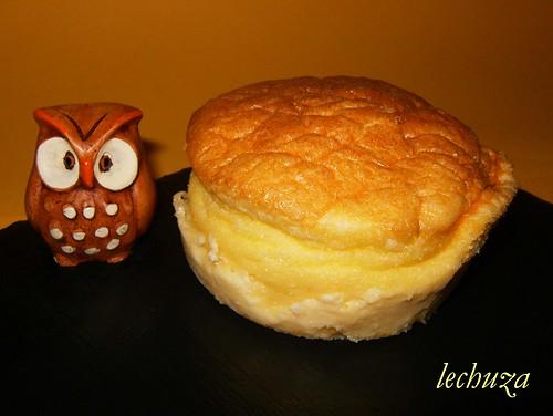 Tartaletas de queso-soufle sin molde