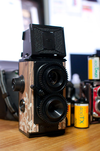 my toy twin-lens reflex cameras