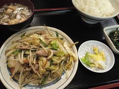 みよし食堂「野菜炒め定食」(700円)