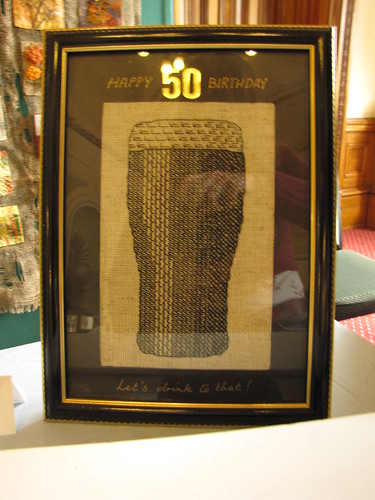 Birmingham Embroiders Guild Exhibition 30 May 2011 (30) - Glass of Guinness by Janet Molloy (Blackwork)