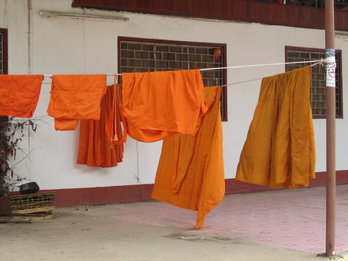 Even monks have to do laundry