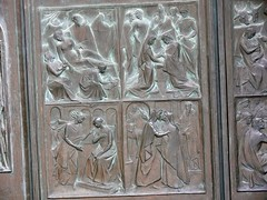 Panels on doors of Il Duomo