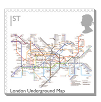 Tube Map on new Postage Stamps