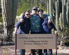 Me and Joshua and Allison (alist) Tags: phoenix garden botanical desert alicerobison