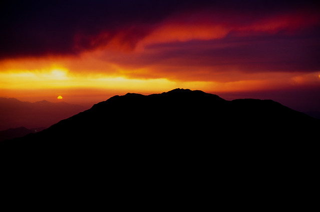 19940716 Sunset Mt.Senjogatake
