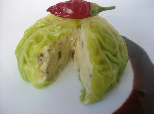 Cupoletta di verza con crema di patate