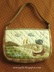 Sunbonnet Sue Patchwork bag (STORY QUILT) Tags: flower cute bag quilt stitch handmade embroidery craft sew purse pouch patchwork applique handstitched zakka sunbonnetsue