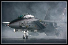 All Cleared For Take Off (WatchinDworldGoBy) Tags: fog plane toy f14 aircraft smoke jet takeoff usn topgun strobe tomcat scalemodel diecast fighterjet modelaircraft carrieroperations clearedfortakeoff forcesofvalor platinumphoto unimax