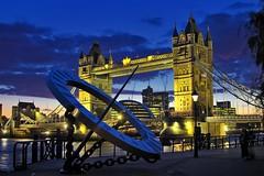 Tower Bridge 2008 (Stuart Stevenson) Tags: city uk bridge blue england london night londonbridge canon300d landmark bluehour riverthames hdr northbank londonist stuartstevenson stuartstevenson