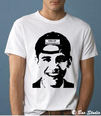 Barack Obama Era of Responsibility - Pop Art Graphic T-shirts by Baostudio