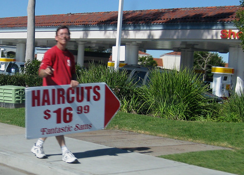 Haircut Sign Twirl