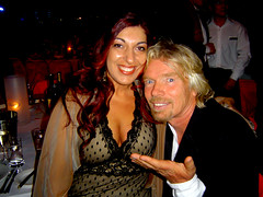 Maz with Sir Richard Branson