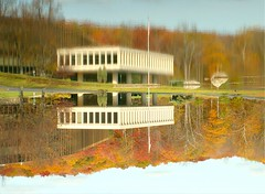 Corporate America has Flipped (Stanley Zimny (Thank You for 11 Million views)) Tags: autumn white lake reflection building fall colors architecture seasons corporation