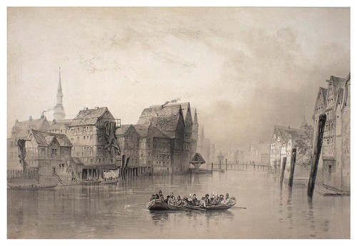 019-Hamburgo ante el fuego en 1842. Temas del canal Binnen-Alster