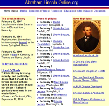 Abraham Lincoln Online cp sm