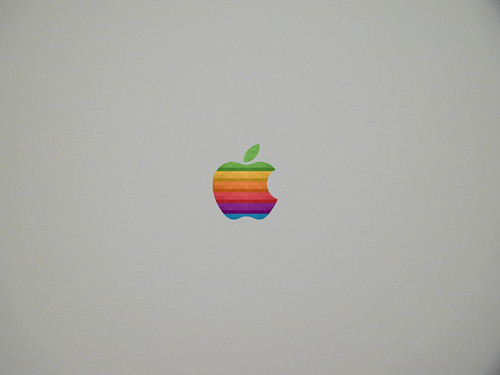 apple logo wallpaper. Logo Wallpaper Grey Style