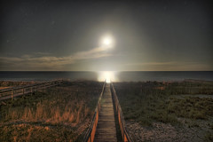 Chillin at the Beach (Karnevil) Tags: usa beach nc nikon nightshot northcarolina moonlight kurebeach d300 verylongexposure chillinhavingabeer gettingamoontan ineedtomovetothebeach whatawonderfulview