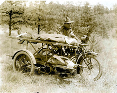 Indian motorcycle used as an ambulance (NCP 001186), National Museum of Health and Medicine