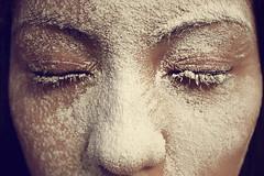 (eli santana) Tags: portrait snow face closeup eyes closed eyelashes bare flour ariana sprinkle